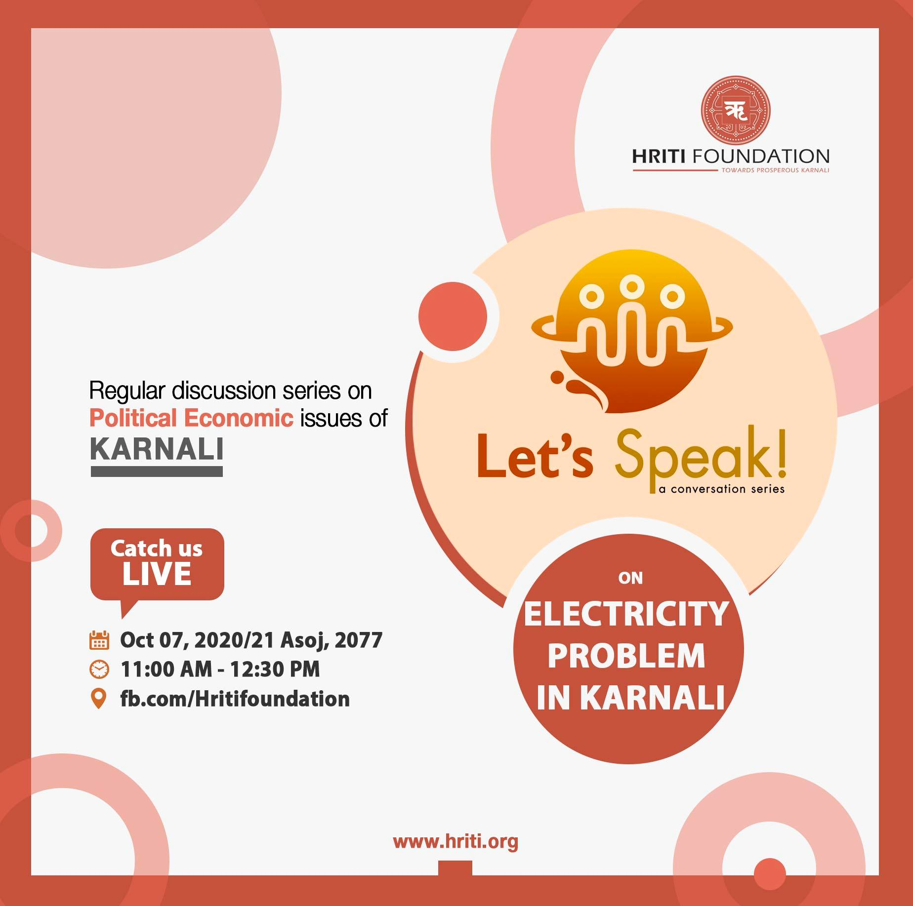 Let's Speak on 'Electricity Problem in Karnali' (EP 52)